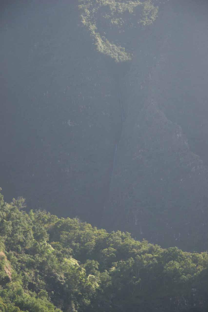 Looking back at Hanakoa Falls