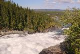 Handolsforsen_033_07122019 - Looking down along the whitewater of Handolsforsen as it was tumbling towards town from the hydro facility up top