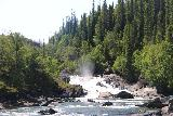 Handolsforsen_043_07122019 - Looking upstream towards some cascades and smaller waterfalls that also belonged to the Handölsforsen system, I believe