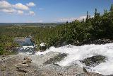 Handolsforsen_050_07122019 - Looking down over Handolsforsen towards the hydro facilities and the base of the falls further downstream