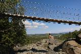 Handolsforsen_059_07122019 - Another look up at the suspension bridge above Handölsforsen