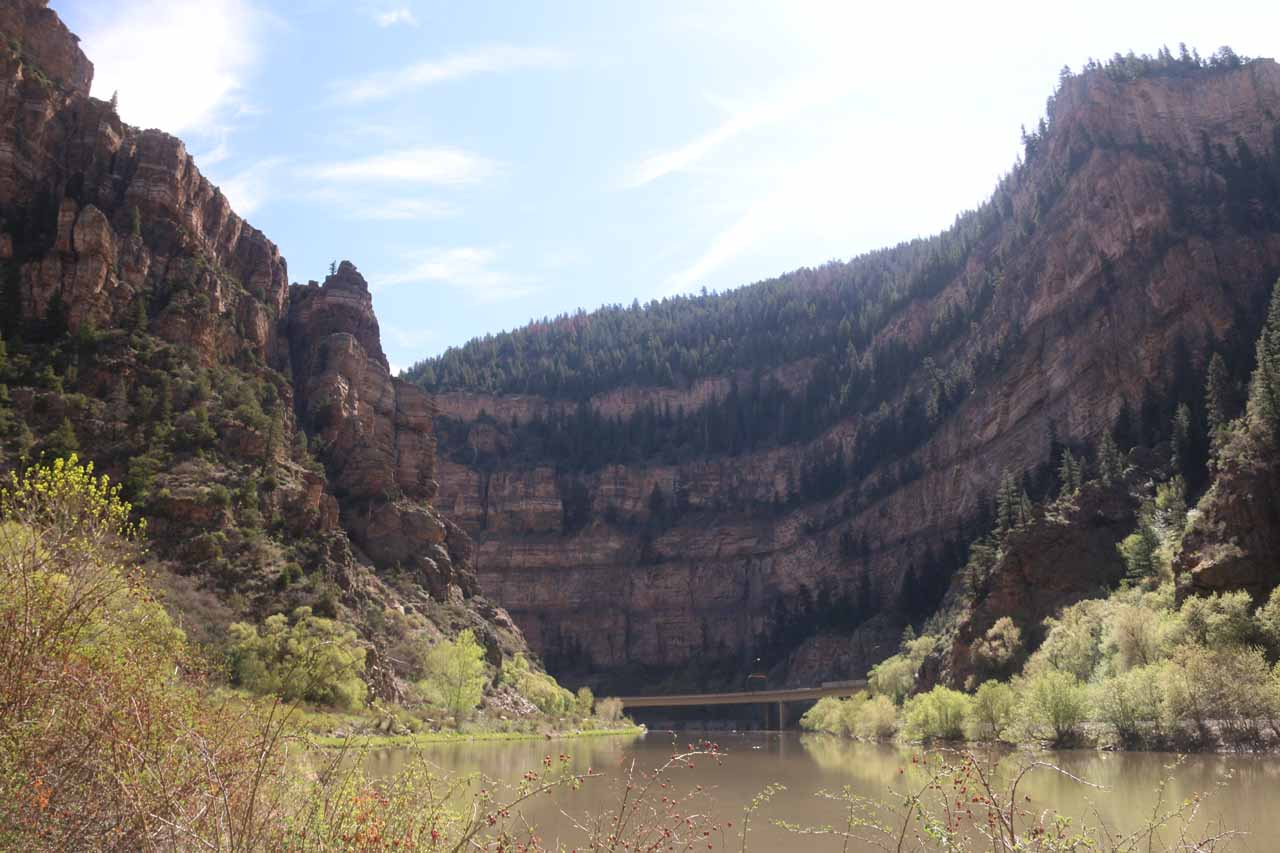 The Hanging Lake Rest Area was mostly quiet except for this stretch where the I-70 was exposed