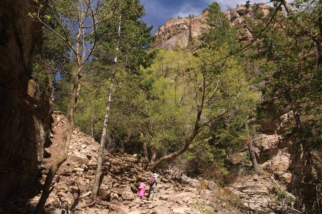 This was another boulder or scree field that we had to traverse while ascending the Hanging Lake Trail