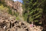 Hanging_Lake_116_04182017 - Tahia and Julie going across still more boulder fields on the Hanging Lake Trail