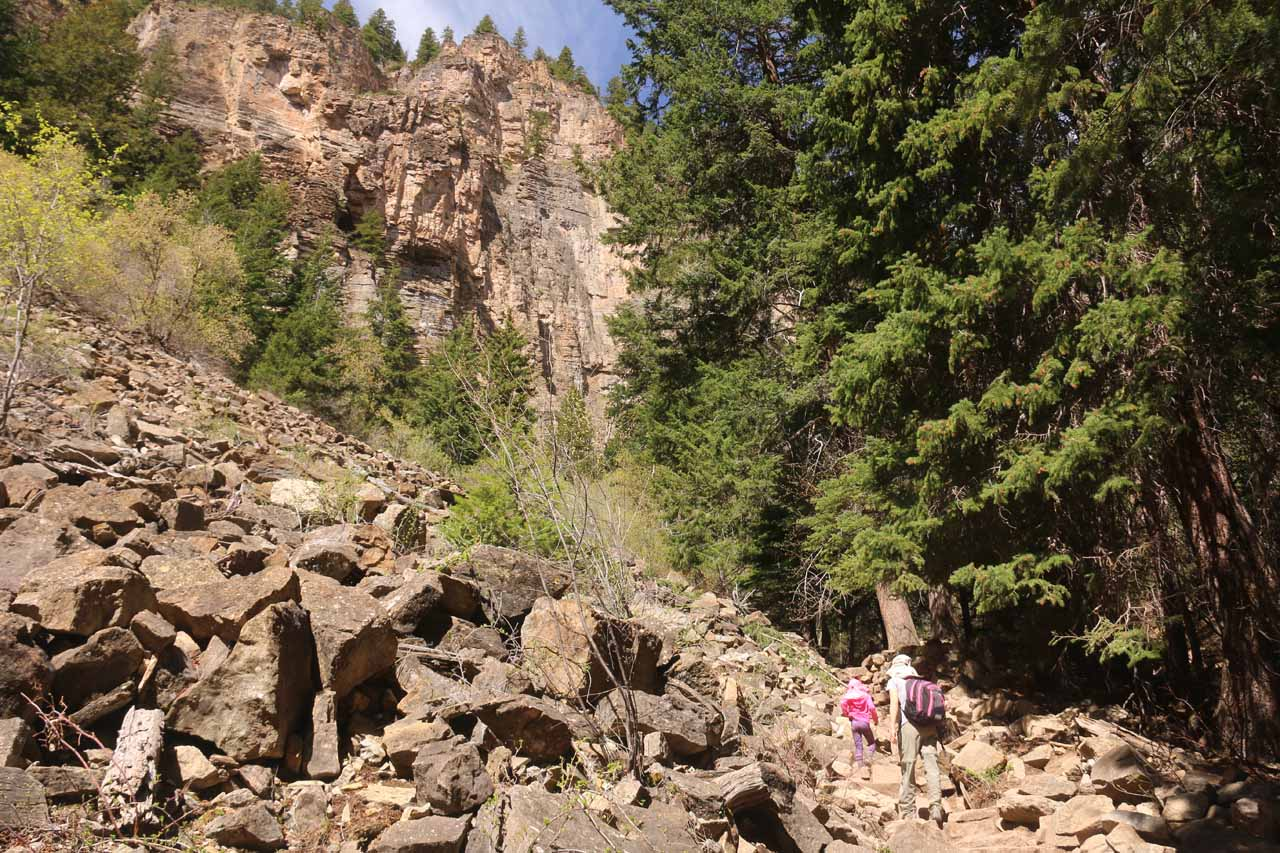 Still more boulder fields to traverse on the Hanging Lake Trail