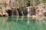 Hanging_Lake_220_04182017 - Broad look at Hanging Lake backed by the Bridal Veil Falls, which was wider than it was tall