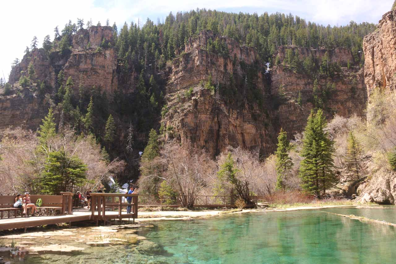 Looking back across Hanging Lake from the far end of the boardwalk