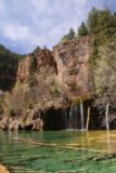 Hanging_Lake_229_04182017 - Looking over Hanging Lake towards part of Bridal Veil Falls to show the context of more of the cliffs towering over this area