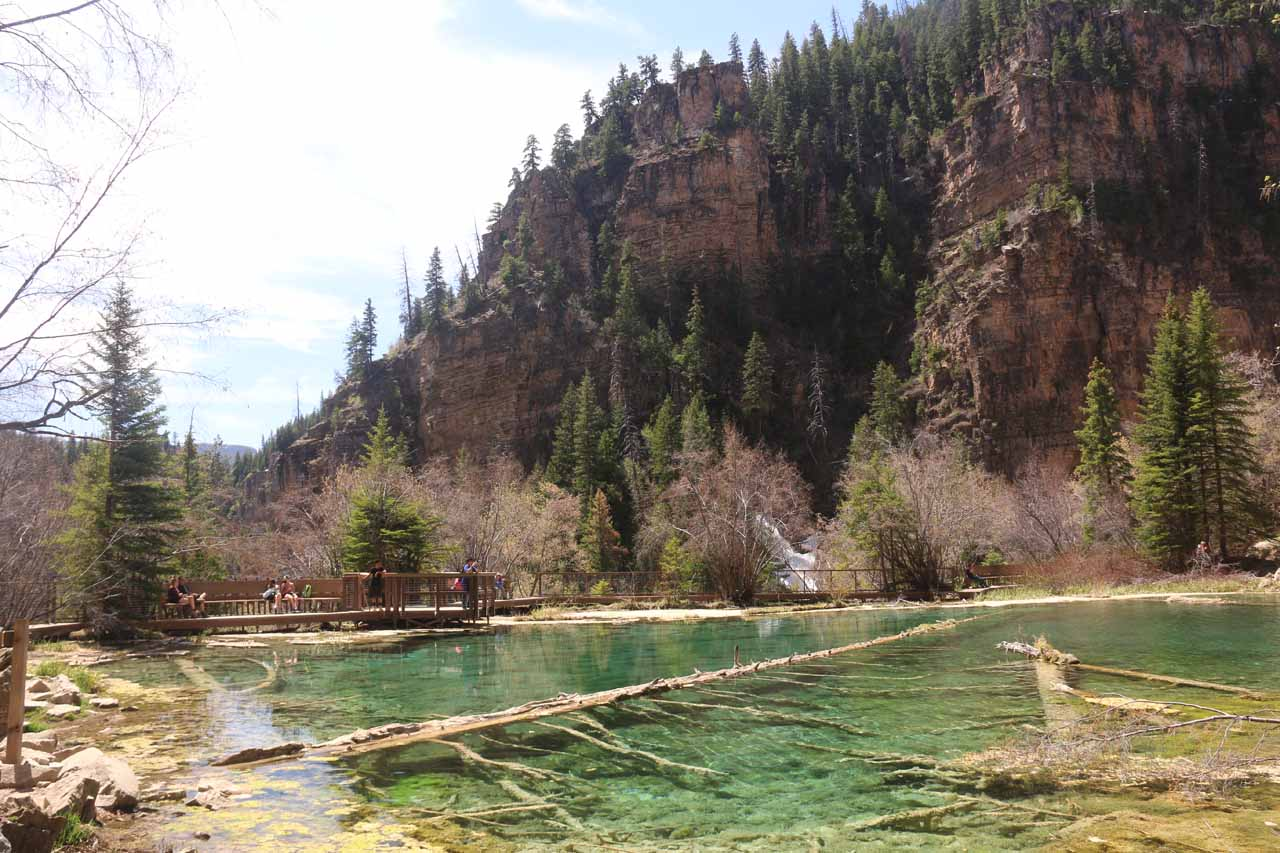 Roughly less than an hour drive from Rifle Falls was the start of the hike for Hanging Lake, which featured this colorful yet clear lake perched high above Glenwood Canyon at 7,000ft