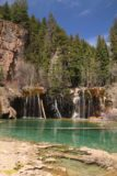 Hanging_Lake_254_04182017 - Another look across Hanging Lake towards Bridal Veil Falls beneath some deep blue skies