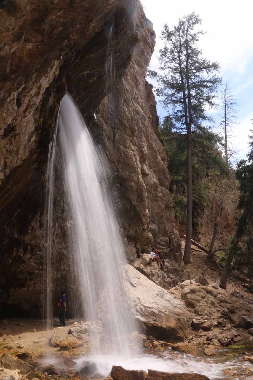 In addition to Hanging Lake and the Bridal Veil Falls, don't forget to check out Spouting Rock, where a waterfall emerged from the cliffs as a gushing spring