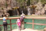 Hanging_Lake_360_04182017 - Before leaving for good, Julie and Tahia made one last look at Hanging Lake and Bridal Veil Falls