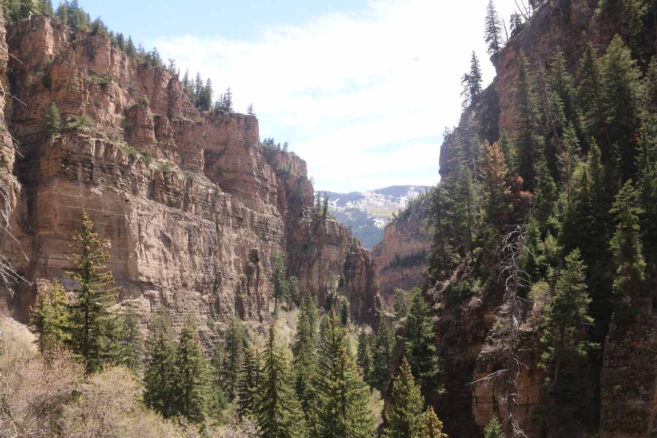 This was the dramatic view back down the canyon from the final ascent up to Hanging Lake