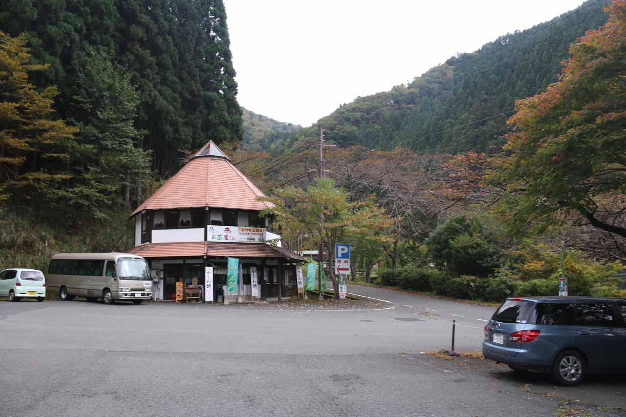 The Harafudo Falls Car Park