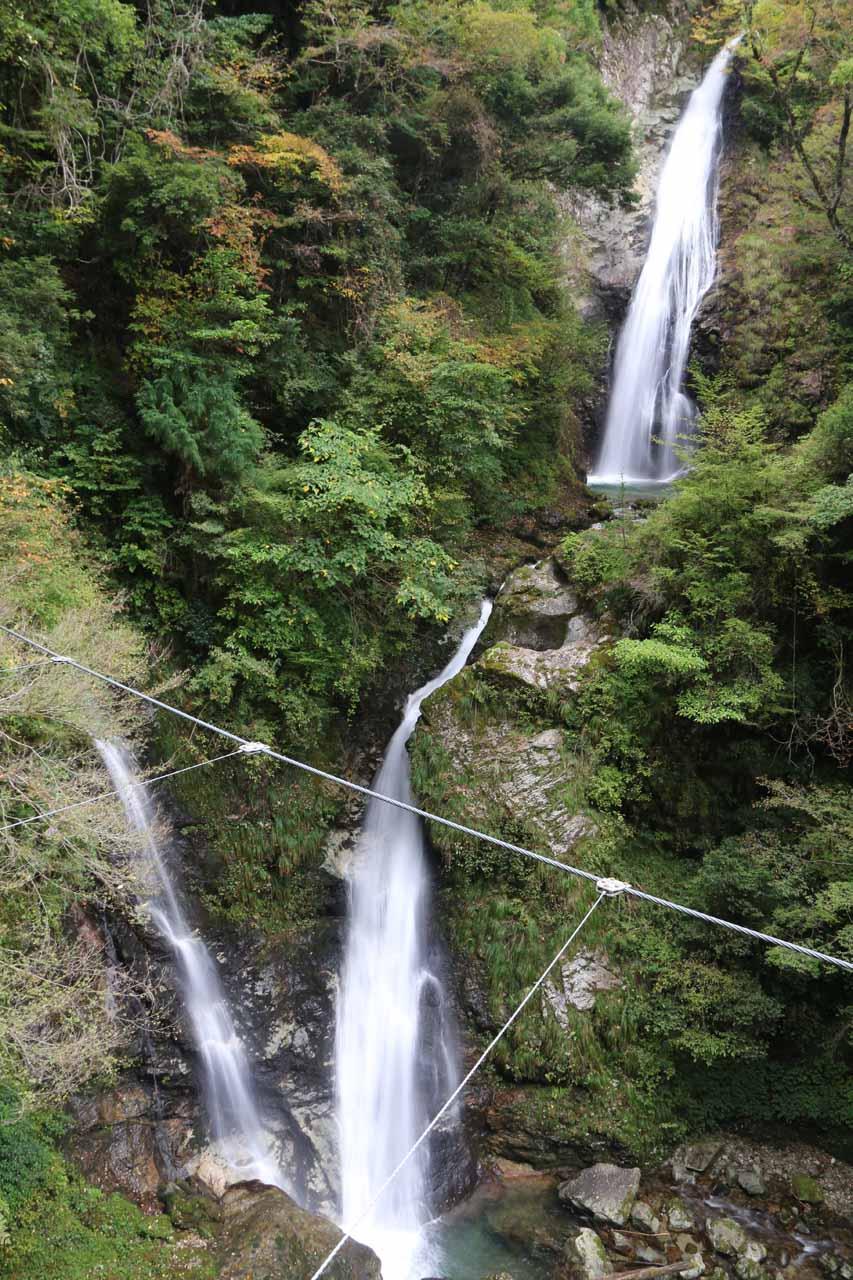 Last look at Harafudo Falls from the suspension bridge