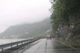 Hardanger_driving_002_06252019 - Dreary weather while driving north on the narrow but busy Rv13