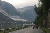 Hardanger_driving_017_06252019 - You never know which surprise waterfalls you're going to encounter when driving in Norway. Shown here was one that tumbled somewhere behind or between Eidfjord en route to Øvre Eidfjord