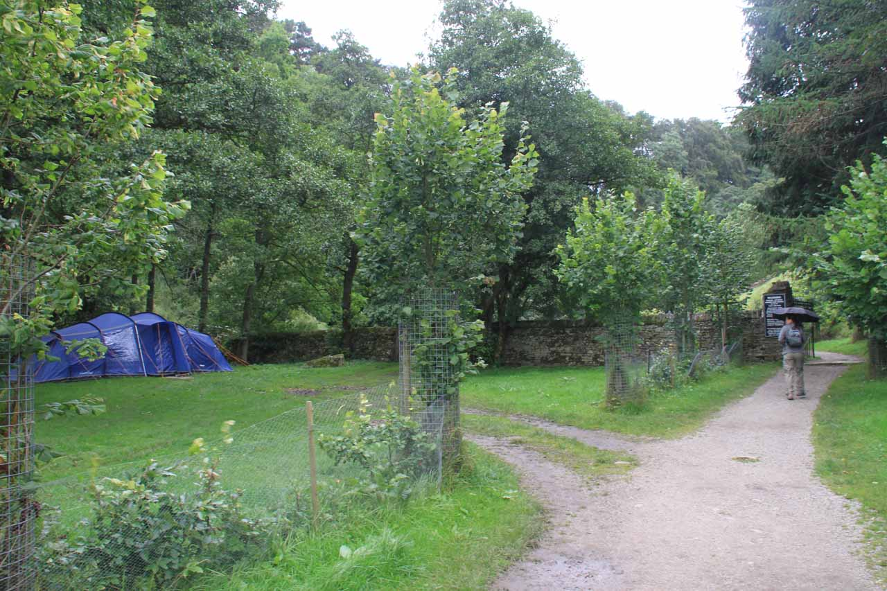 The footpath then veered past a campground