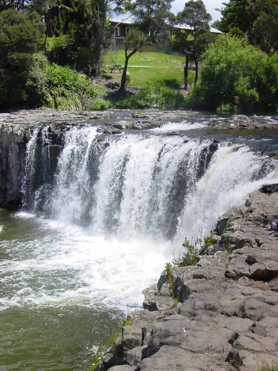 A closer look at Haruru Falls