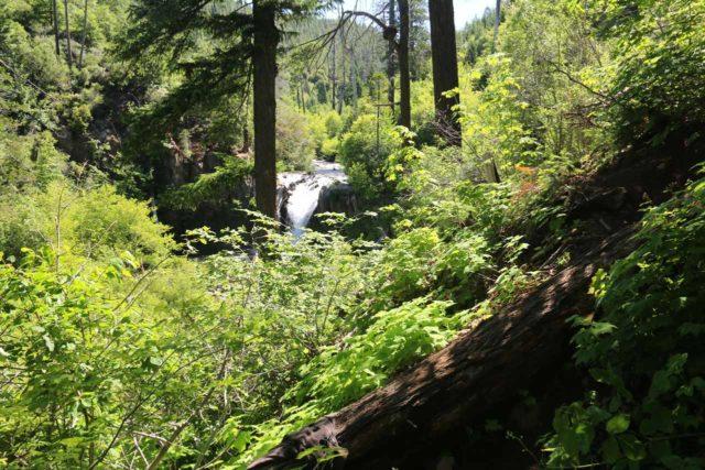 Hatchet_Creek_Falls_013_06202016 - Context of the Hatchet Creek Falls and the rough scrambling still ahead of us