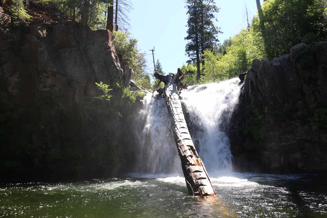 A direct look at Hatchet Creek Falls or Lions Slide Falls