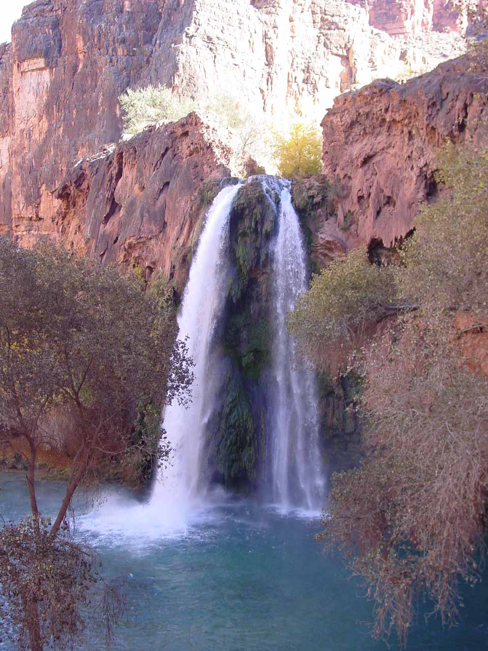More direct view of Havasu Falls as we descended even further down the trail