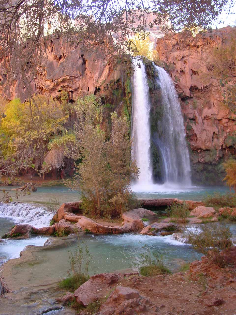 The base of Havasu Falls