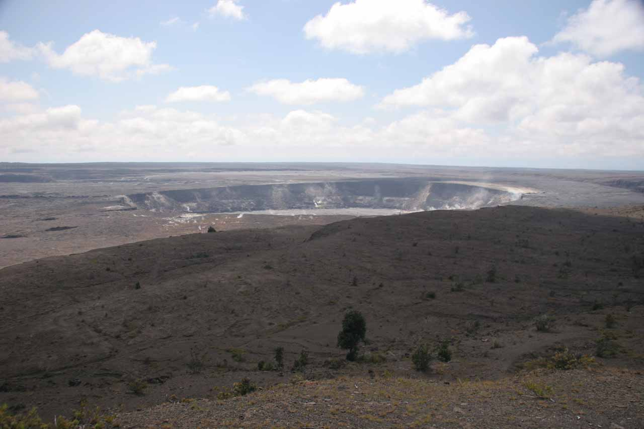 Hawaii Volcanoes National Park also featured craters and moonscapes of desolate earth once burned by lava flows from Kilauea or Mauna Loa