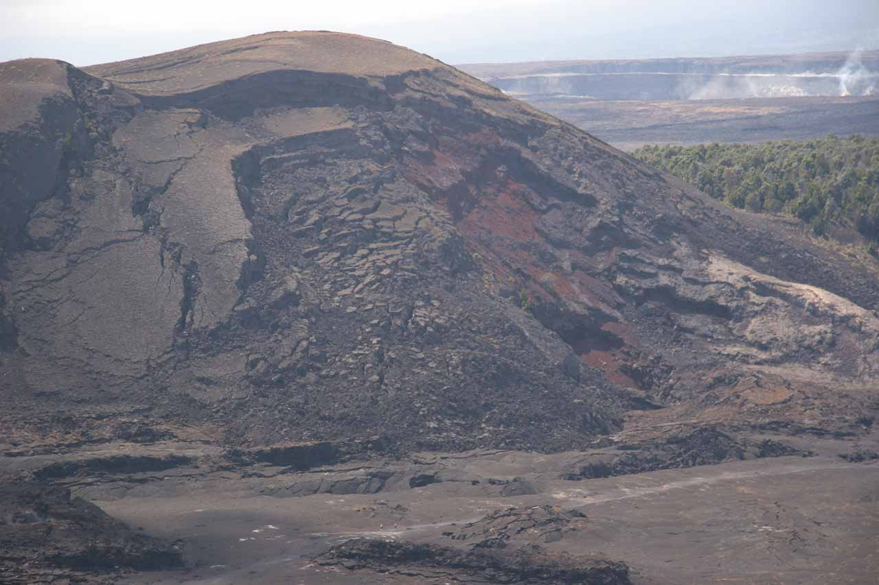 Kilauea Iki dwarfing hikers within the crater itself
