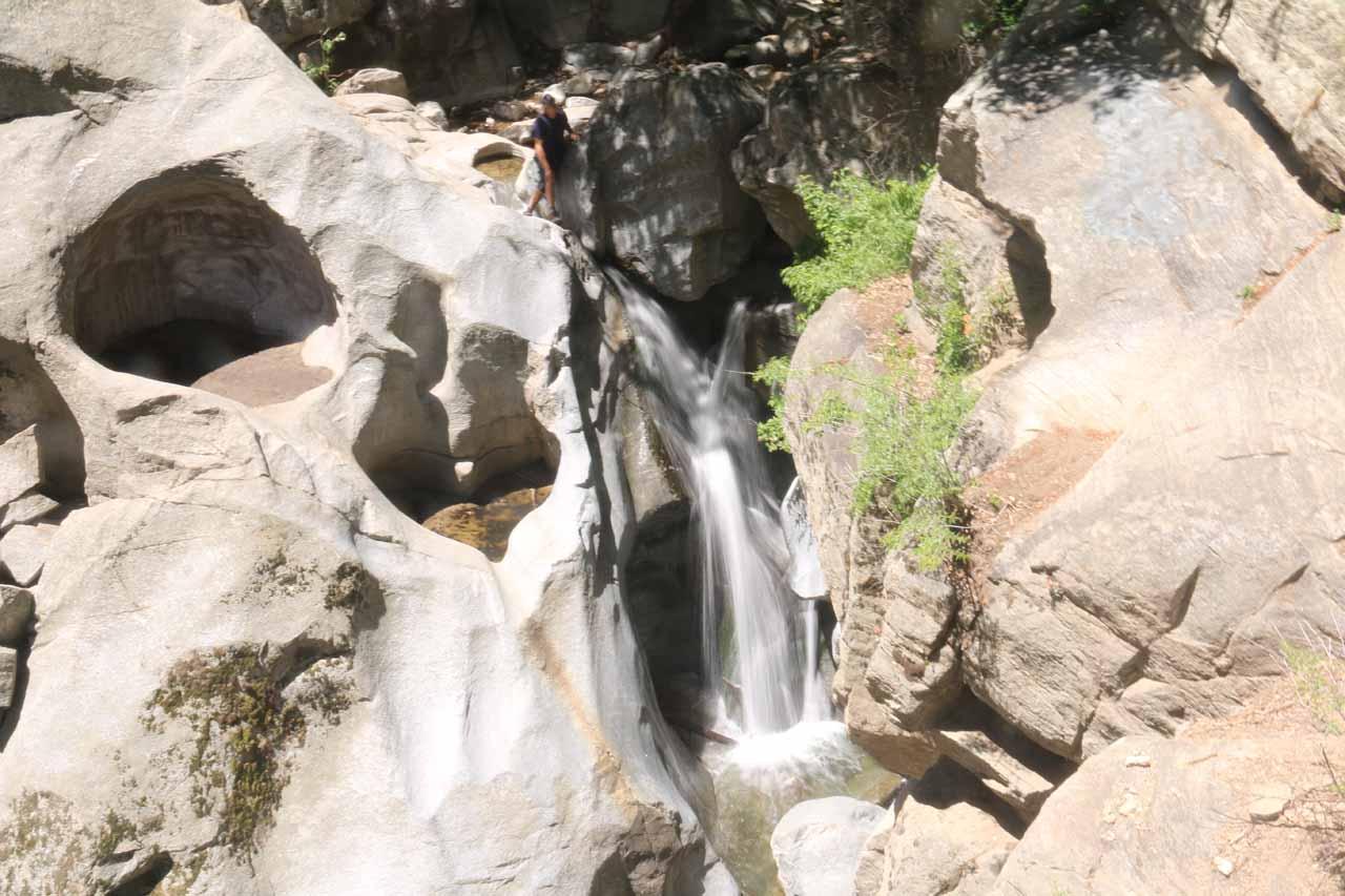 The familiar Heart Rock Falls