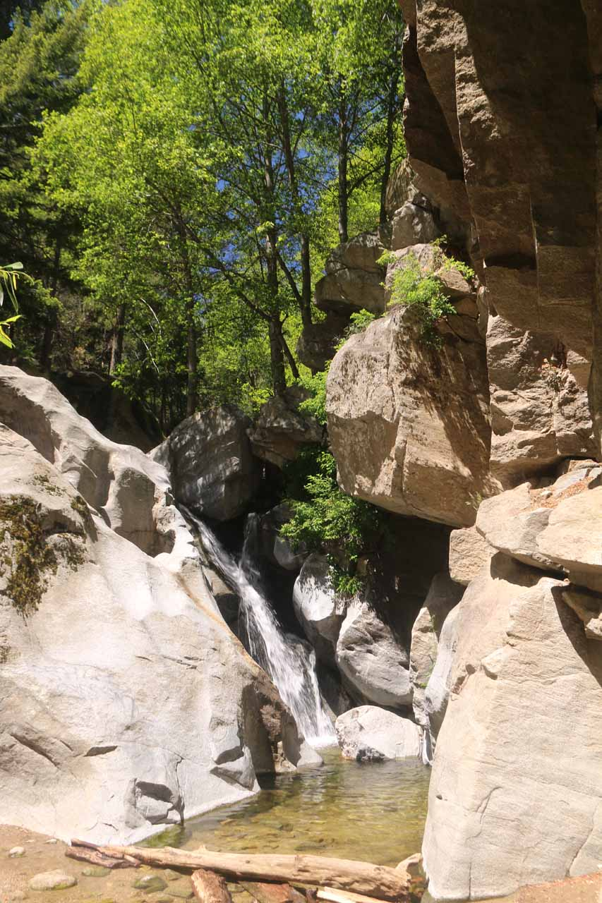 At the base of the Heart Rock Falls