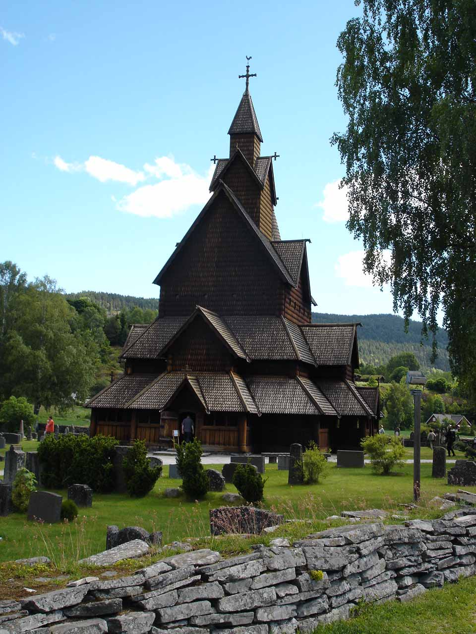 This was the Heddal Stave Church about 10km east of the E134 and Rv361 junction southeast of Rjukan.  The stave church was also about 6km west of the town of Notodden
