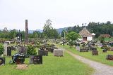 Heddal_Stavkirke_027_06182019 - Looking towards the graveyard surrounding the stave church at Heddal