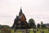 Heddal_Stavkirke_061_06182019 - Looking towards the front of the Heddal Stave Church from a different angle in the graveyard