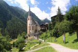Heiligenblut_017_07122018 - Although it wasn't necessary on the Goessnitz Waterfall hike, my mistake by starting my hike from Heiligenblut actually had some fringe benefits like this bit of scenery with the local church backed by nice mountains