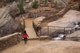 Helen_Hunt_Falls_035_03222017 - Tahia crossing the bridge above the Helen Hunt Falls