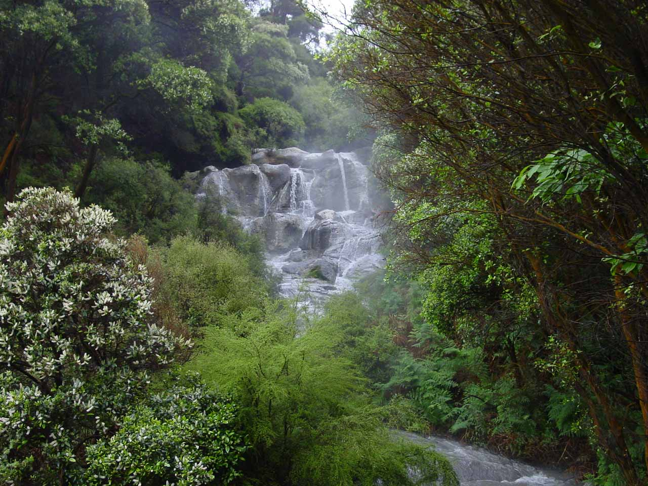 Our first look at Kakahi Falls