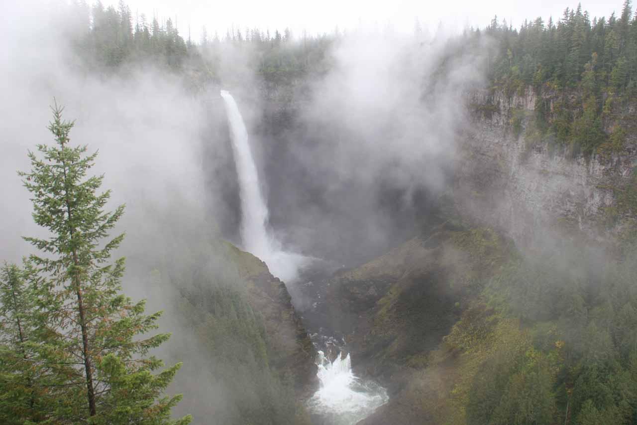 Helmcken Falls in lots of fog