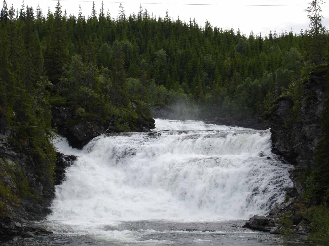 This was the waterfall we saw on the road bridge over the Tya River.  The falls was called Kvernfossen according to the Norwegian maps