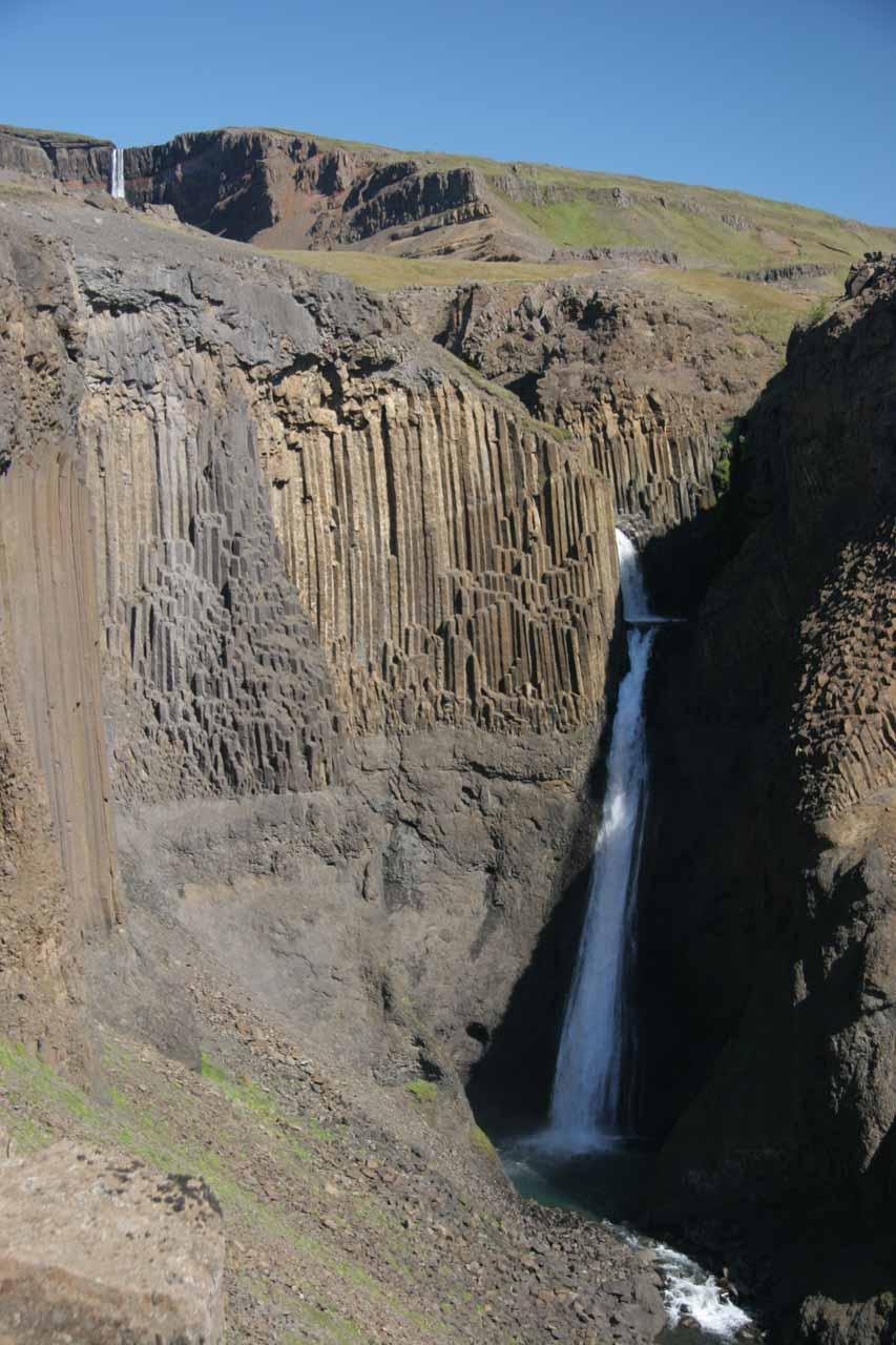 Further to the west of Gufufoss and Seyðisfjörður was the attractive pairing of Hengifoss (hidden up top) and Litlanesfoss