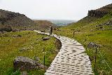 Hengifoss_199_08112021 - Descending the boardwalk as we went further away from the rockfall danger this close to Hengifoss