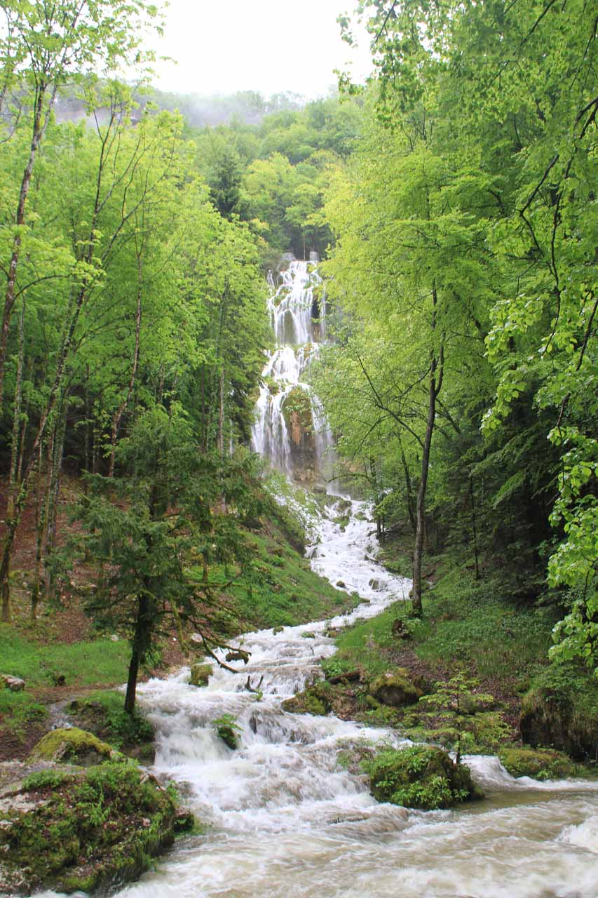 Tuffiere - the first waterfall we noticed