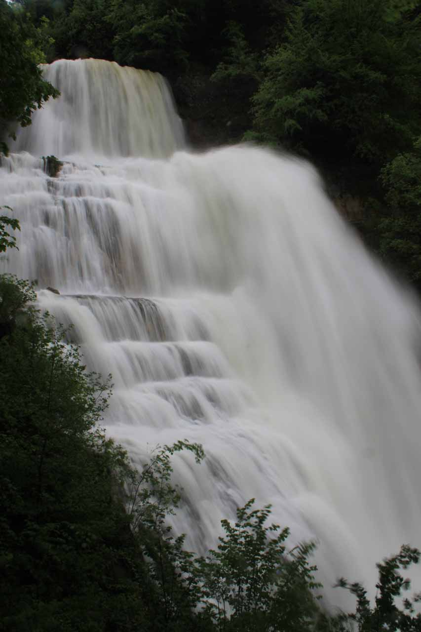 L'Eventail, which was one of many of the Cascades du Herisson Waterfalls