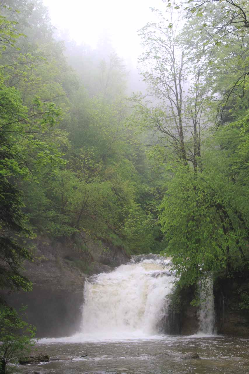 Gour Bleu - another unexpected waterfall we noticed on the Herisson River