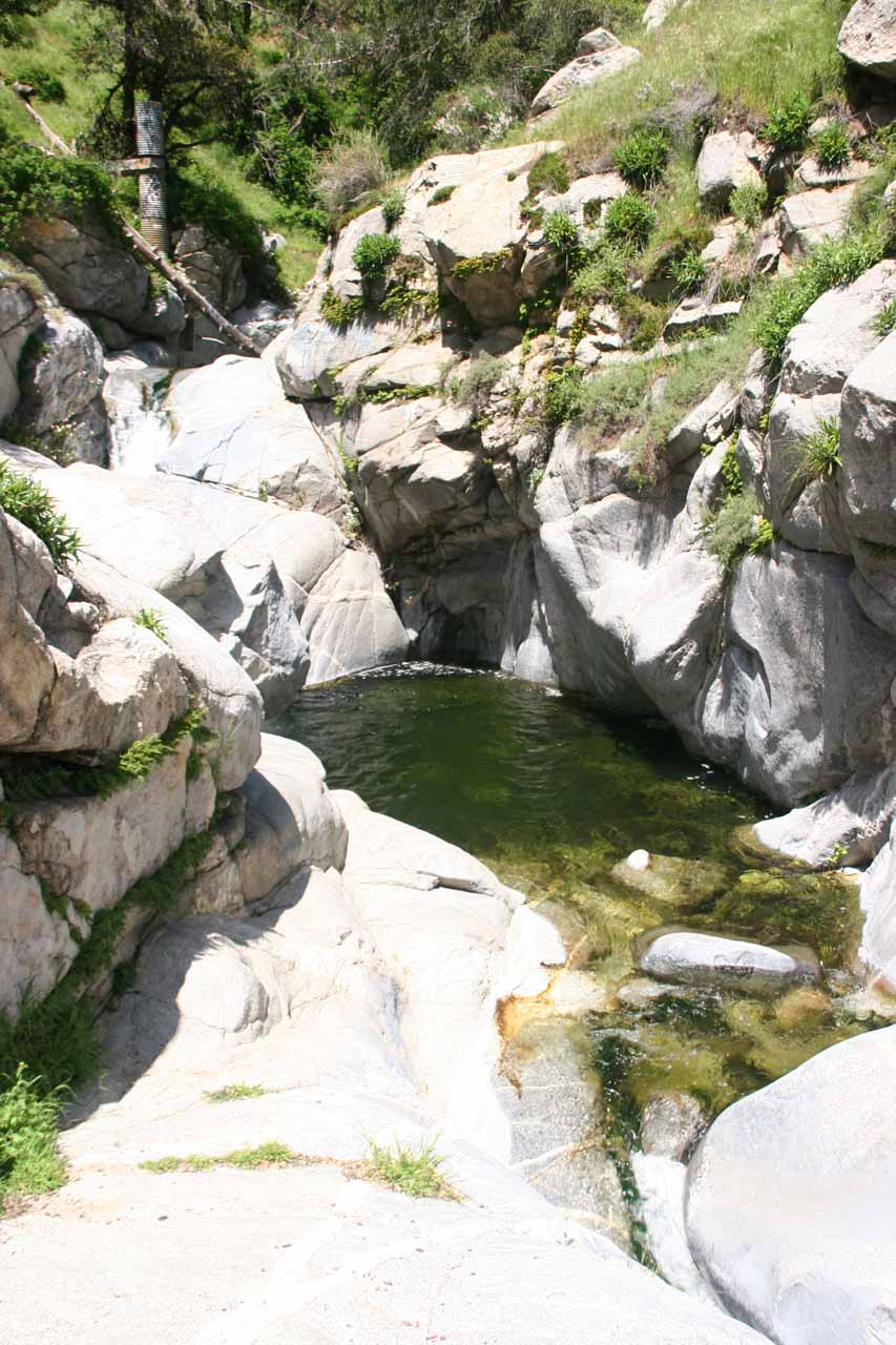 The upper waterfall and pool