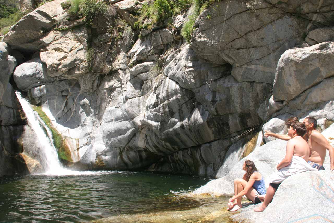 Finally at Hermit Falls while the family I followed chilled by the plunge pool
