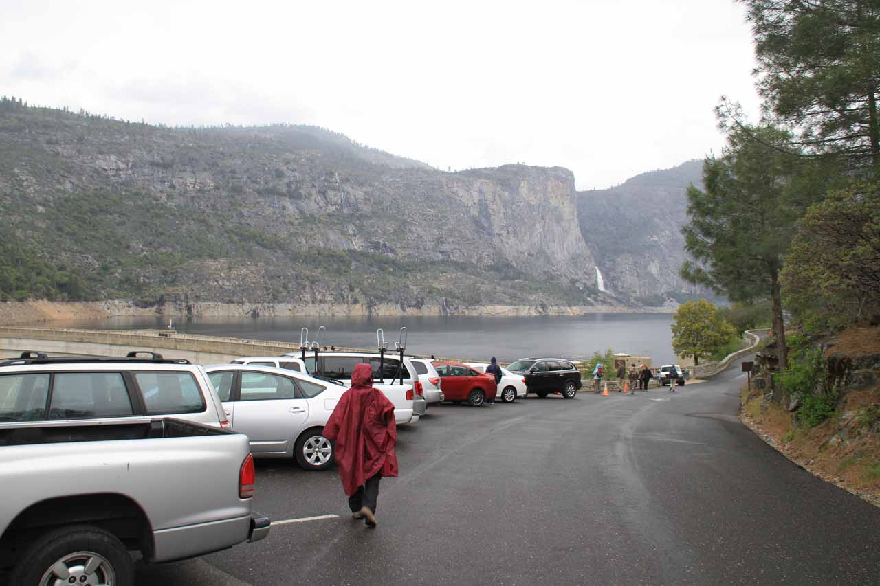 The car park at the O'Shaughnessy Dam