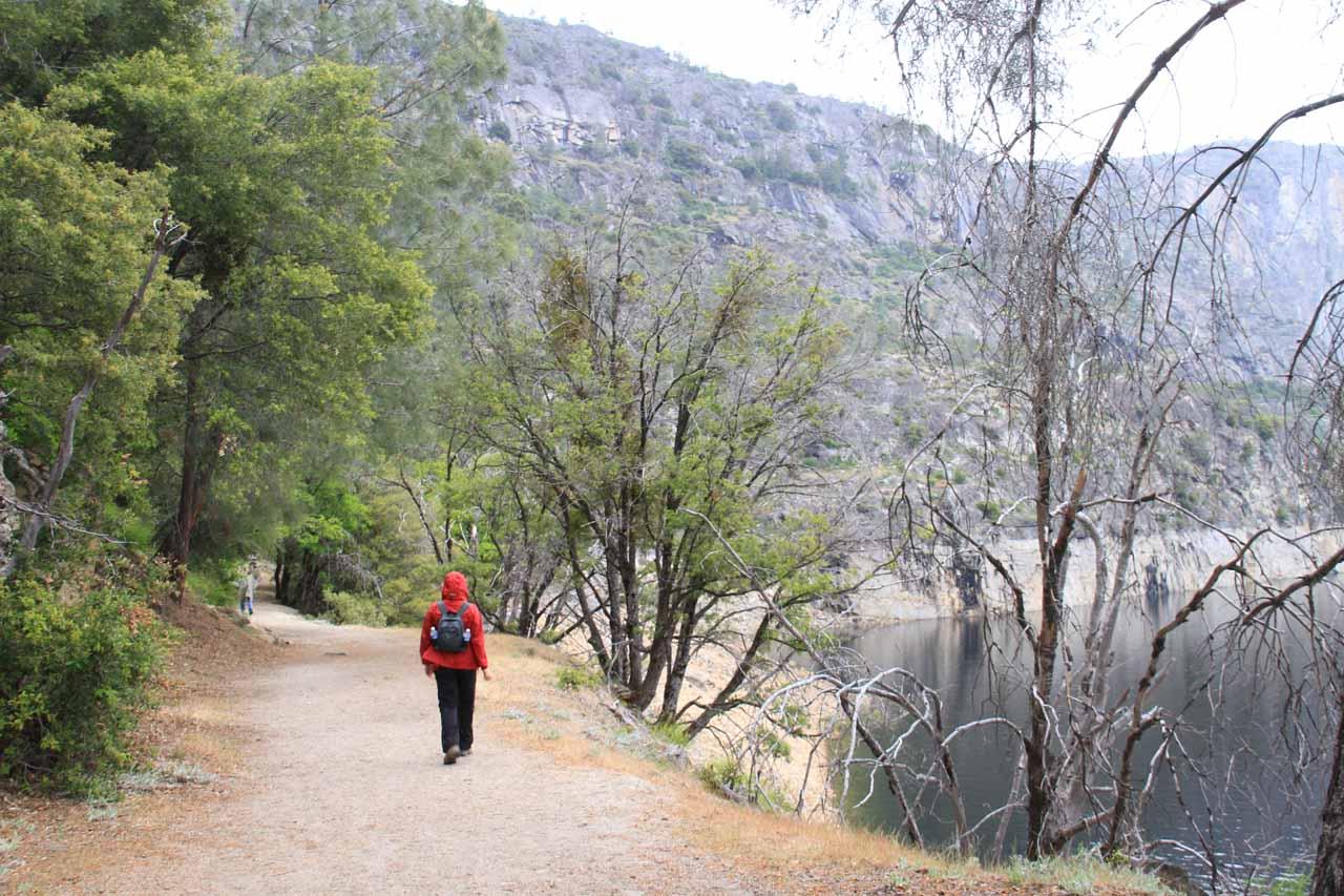 Trail skirts the reservoir