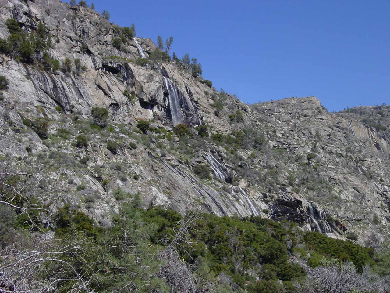 Angled view of some unnamed cascade that sometimes flowed better than Tueeulala Falls in 2004
