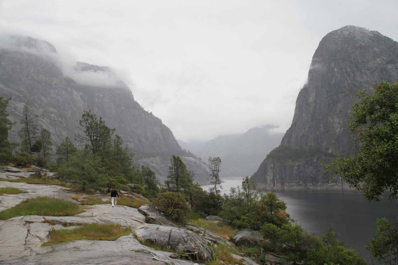 Hetch Hetchy Valley was almost always visible throughout the hike